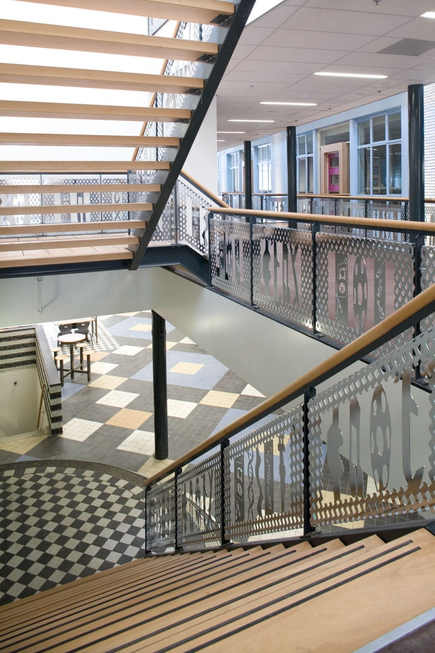 Interior escuela Arnhem, Holanda