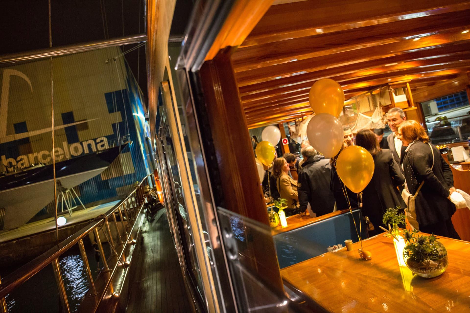 evento particular en barco, Barcelona