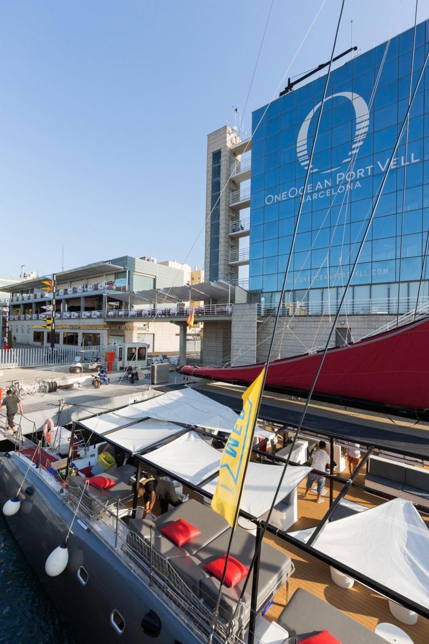 Montaje de un evento de empresa en barco, Barcelona