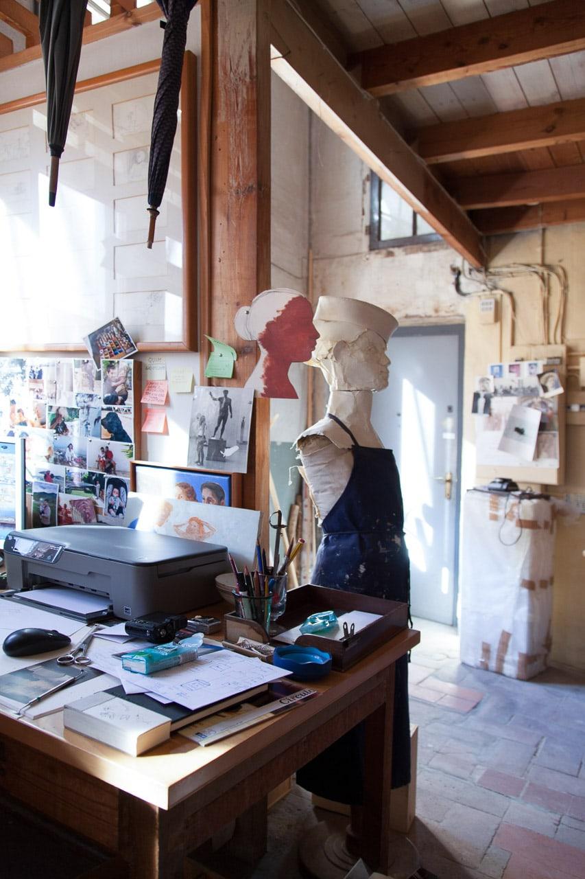 Estudio pintor Francesc Artigau detalle