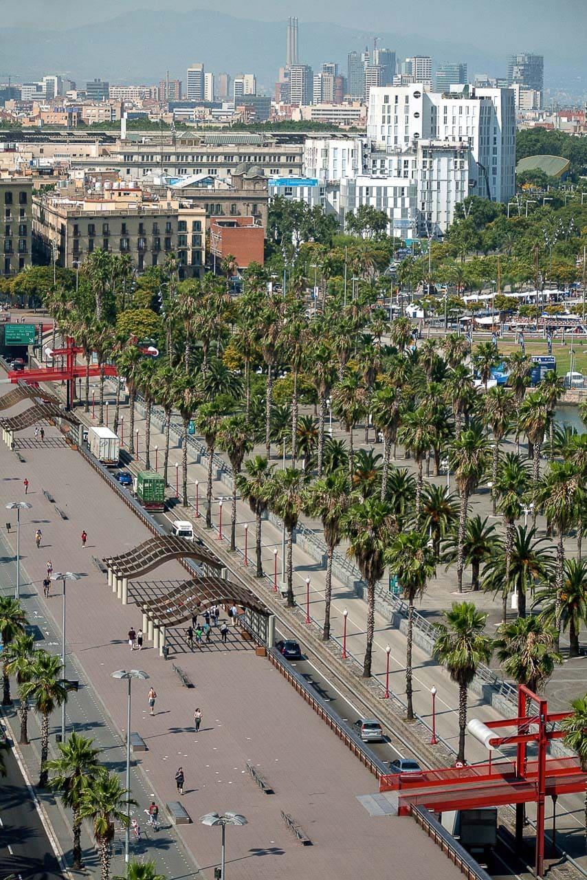 Vista aerea arquitectura barcelona