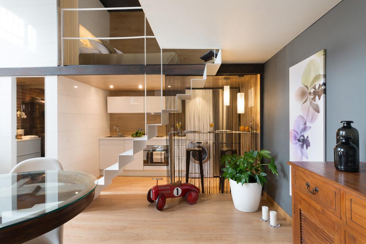 loft moderno y acogedor en barcelona